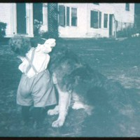 Hawkes child & dog, North Saugus