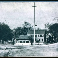 Lincoln Avenue (left) Chestnut Street (right) in East Saugus