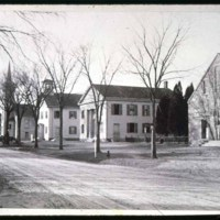 Main Street From Center, 1880-2, William Hare, Church, 1821 ?, old town hall, one church