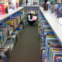 A Saugus mom selecting picture books