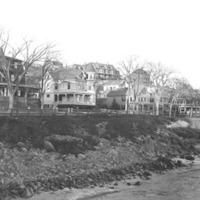 Humphrey Street homes from Fishermen's Beach, 1910