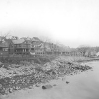 Humphrey Street homes from Fishermen's Beach, 1890