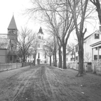 Congregational and Methodist Churches on Blaney Street, Swampscott, Mass.