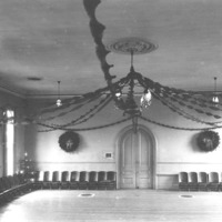 Swampscott town hall auditorium, rear view