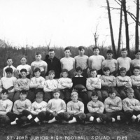 St. John's School football team, 1929: whole squad