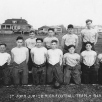 St. John's School football team, 1929: first team