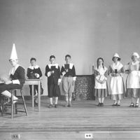 Stanley School theater production (the Pilgrims), 1930