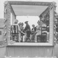 Fiftieth anniversary of Swampscott: Women's Club parade float