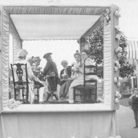 Fiftieth anniversary of Swampscott: Women's Club parade float (close-up)
