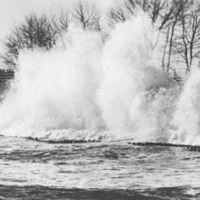 Surf crashing at Woodbury's Point