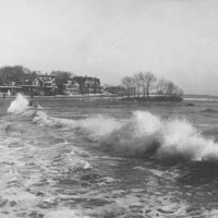 Surf breaking along Lynn Shore Drive