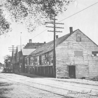 Fish houses on Humphrey Street, 1896