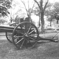 World War I cannon, Swampscott Cemetery, Swampscott, Mass.