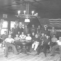 Young Yankee dory sailors and club officers