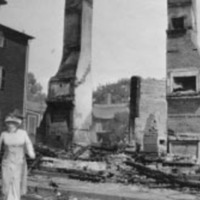 Great Salem Fire :  chimneys of destroyed building