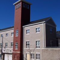 Hose drying tower, Public Safety Building, Wakefield, Mass.