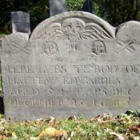 Matthew Edwardes headstone, Old Burying Ground, Wakefield, Mass.