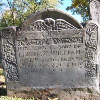 William Hescy headstone, Old Burying Ground, Wakefield, Mass.