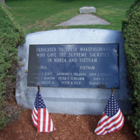 Korean War and Vietnam War memorial, Wakefield, Mass.