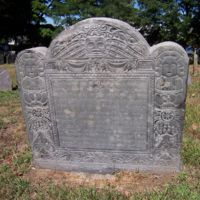 Jonathan Pierpont headstone, Old Burying Ground, Wakefield, Mass.