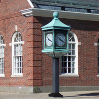 Wakefield Savings Bank clock, Wakefield, Mass.