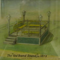 """Old Band Stand "" in 1873 looking so. west"