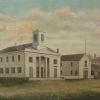 Town Hall and fire engine house, Church St., South Reading, 1852