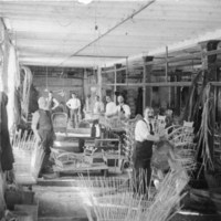 Rattan factory workers