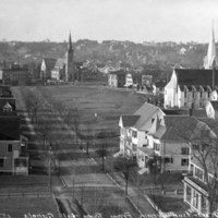 View looking west from top of Town Hall, 1896