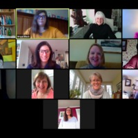 Library Staff Meeting over Zoom May 1, 2020