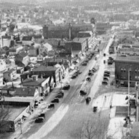 [Aerial photo of Wakefield business district, 1930s]