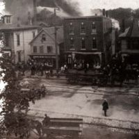 Rink fire, rear of 390 Main Street, July 21, 1900