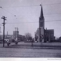 Albion Street at Railroad Avenue, 1908