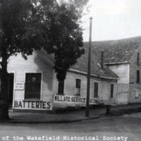 Bessey Livery Stable, corner of Main and Chestnut Streets, September 1923