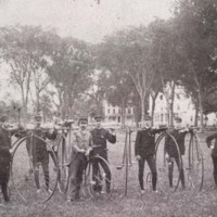 Bicyclists on the Common, 1890