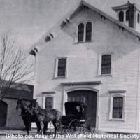 Carriage house at the Beebe Farm, Main Street, circa 1890