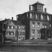 Center House, Water Street, east of the railroad crossing, Winter, 1931