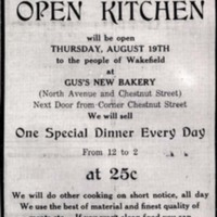Gus' Home Bakery, 1915