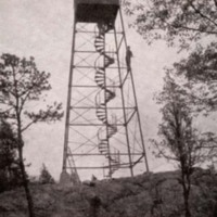 Harts Hill forest fire watch tower, 1913