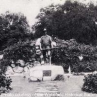 Hiker Monument and Rockery, circa 1926