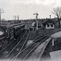 Junction railroad station, circa 1907