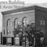 Odd Fellows Building, Main and Avon Streets, 1923