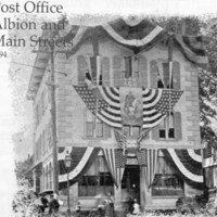 Post Office, Albion and Main Streets, 1894