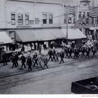 Reception parade for Company A, August 25, 1917