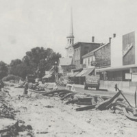 Removing the street railway tracks, July 1949