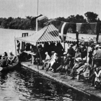 Speedboat regatta, Lake Quannapowitt, summer, 1929
