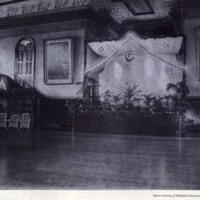 Stage of the Wakefield Town Hall, circa 1900