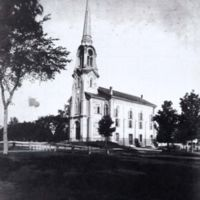 The third home of the First Parish Congregational Church, circa 1890