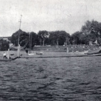 The wharf at Lake Quannapowitt, 1905