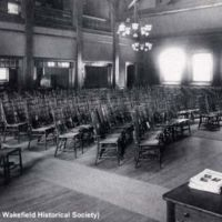 Vestry, Fourth Meeting House, First Parish Congregational Church, before 1909